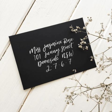 Light of Leni | Hand lettering | Envelope Addressing