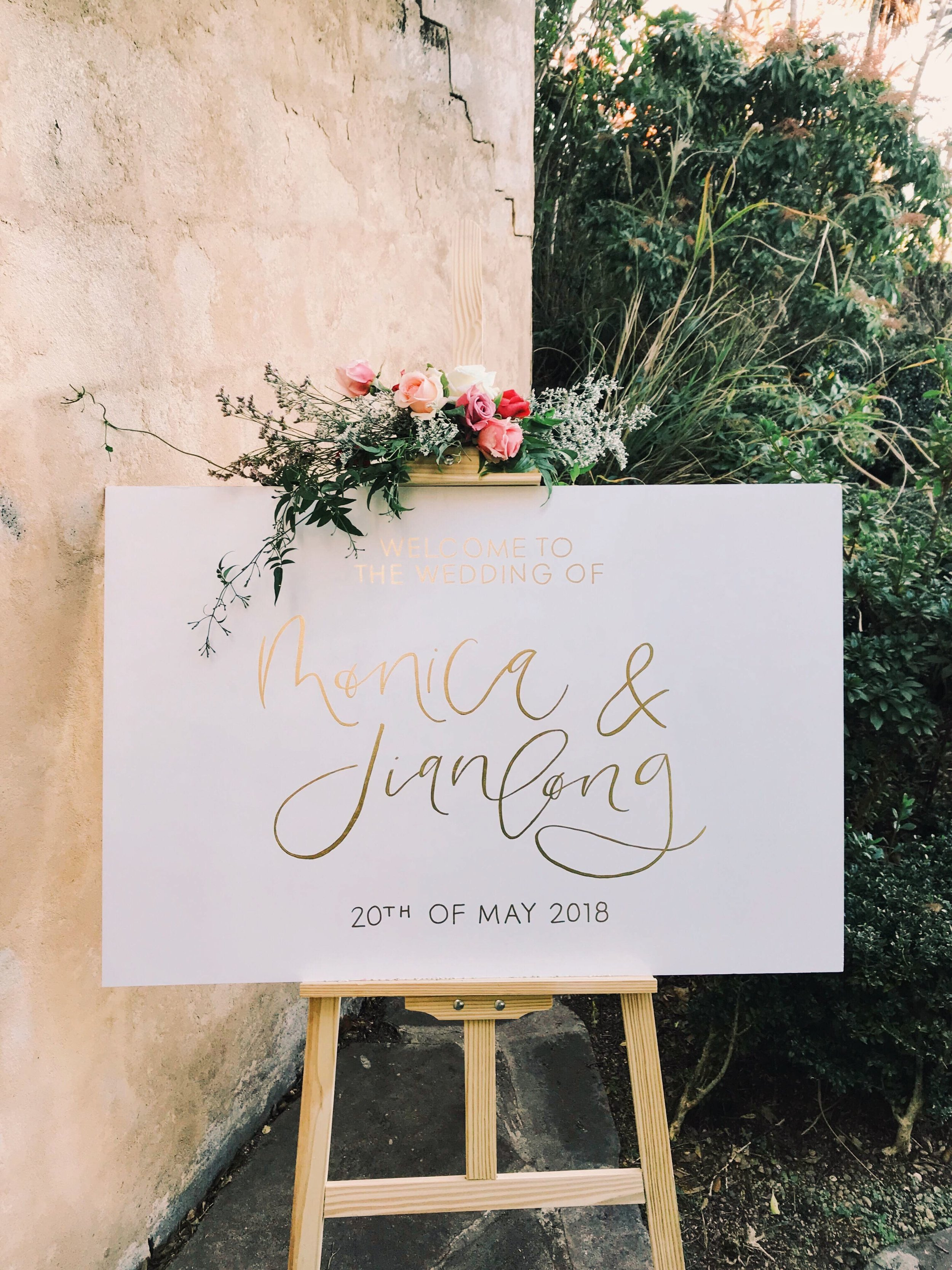 Light of Leni | Signage | Wedding Entry Sign