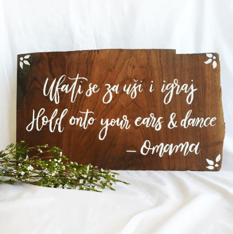 Light of Leni | Signage | Wedding Sign