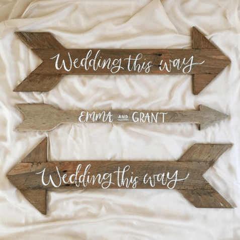 Light of Leni | Signage | Wedding Directional Signs