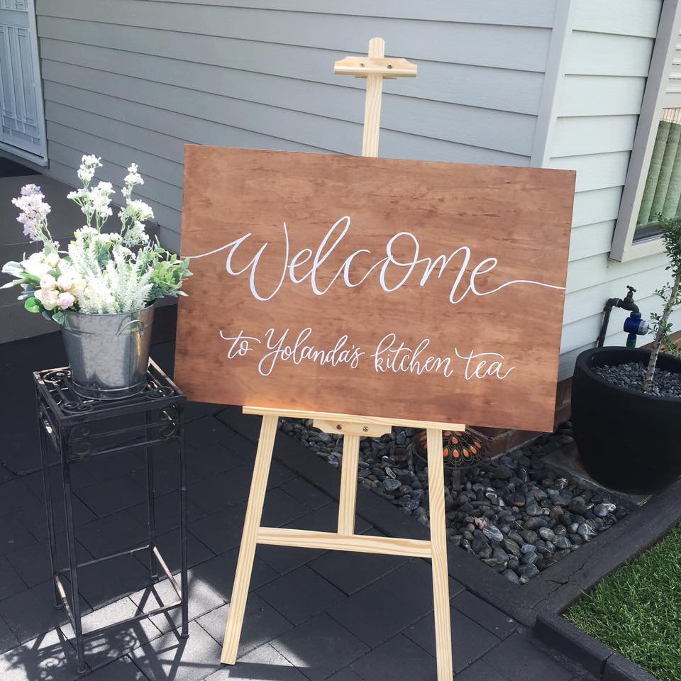 Light of Leni | Signage | Bridal Shower Sign