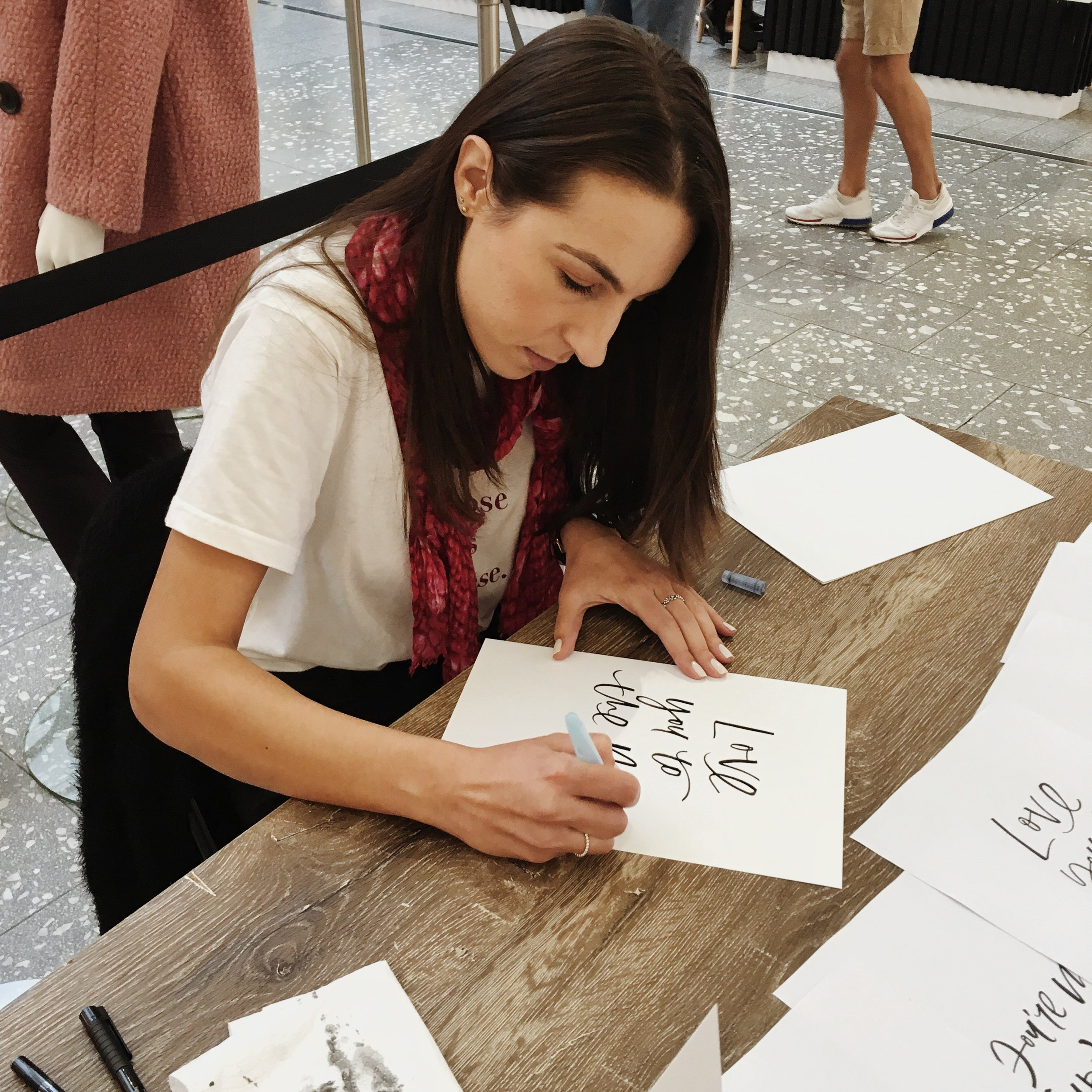 Light of Leni | Live Lettering | Macarthur Square Shopping Centre