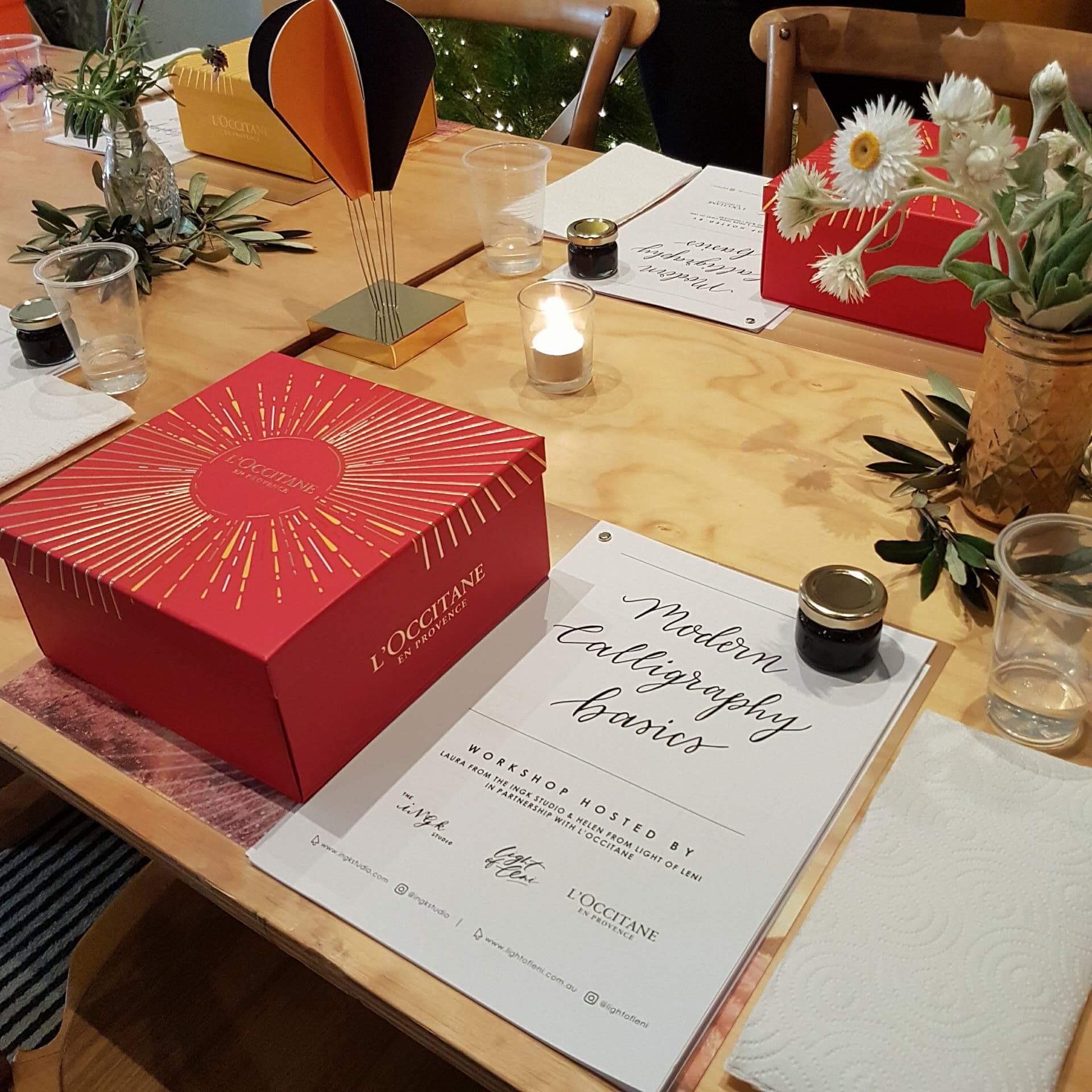 Light of Leni | Live Lettering | L'Occitane Modern Calligraphy Workshop