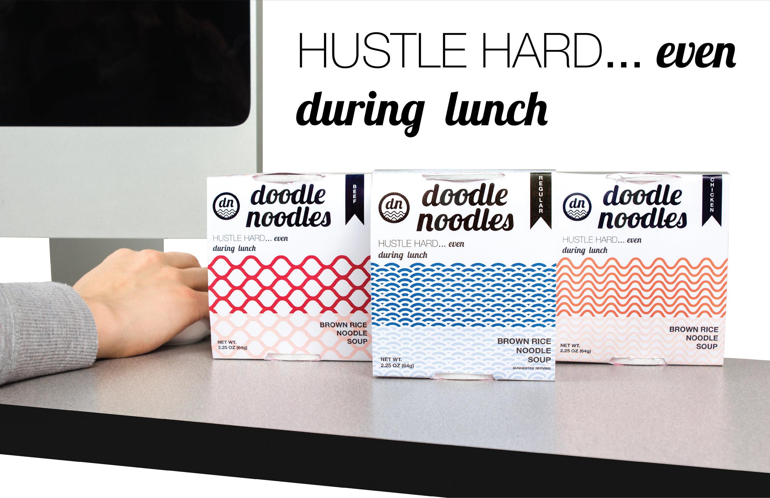 Doodle Noodles Package Design & branding