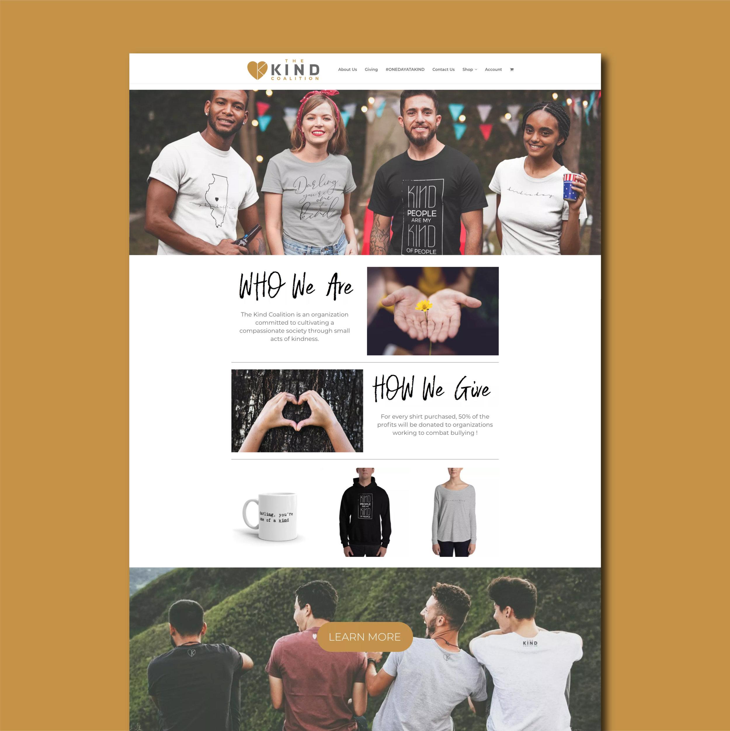 The Kind Coalition Website Design