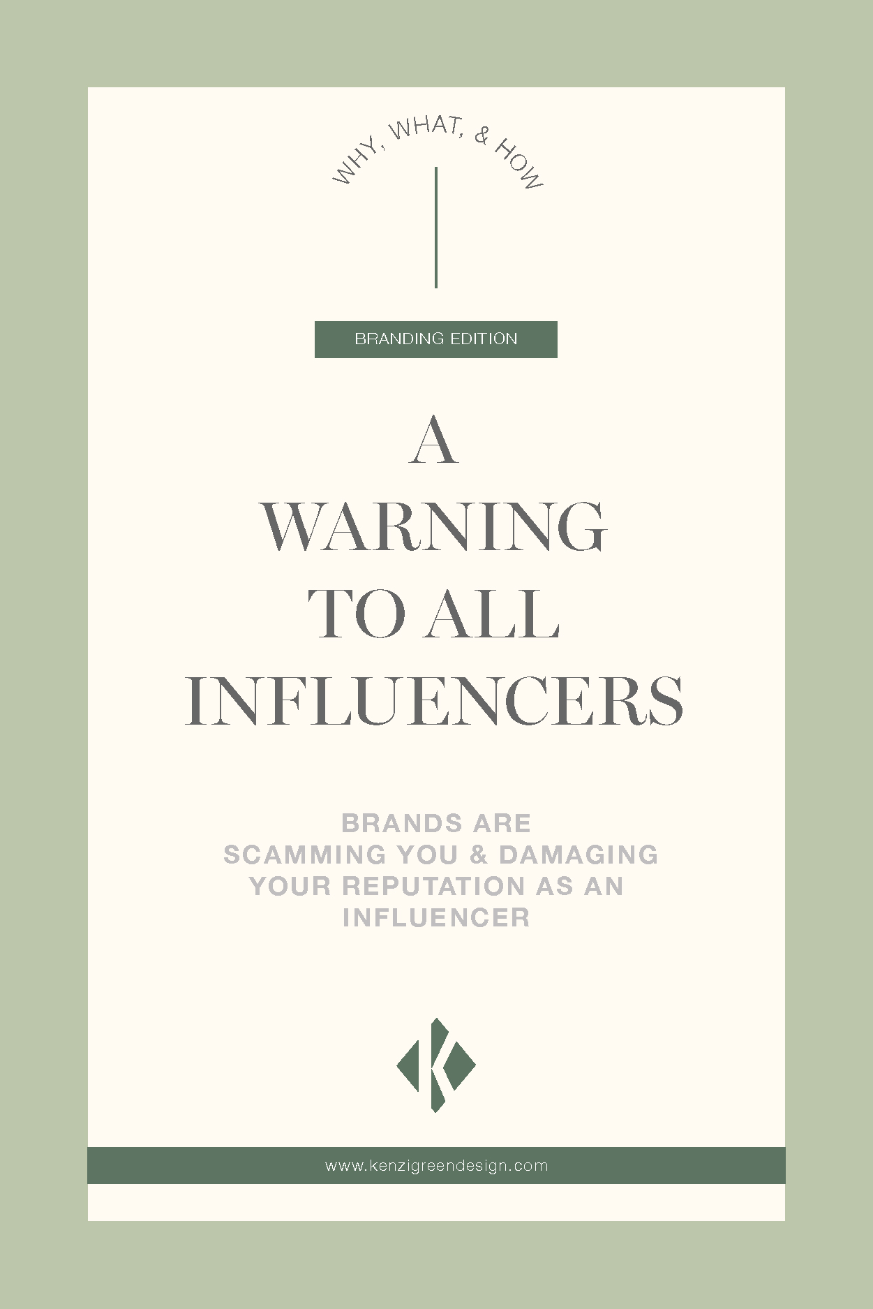 A warning to all influencers