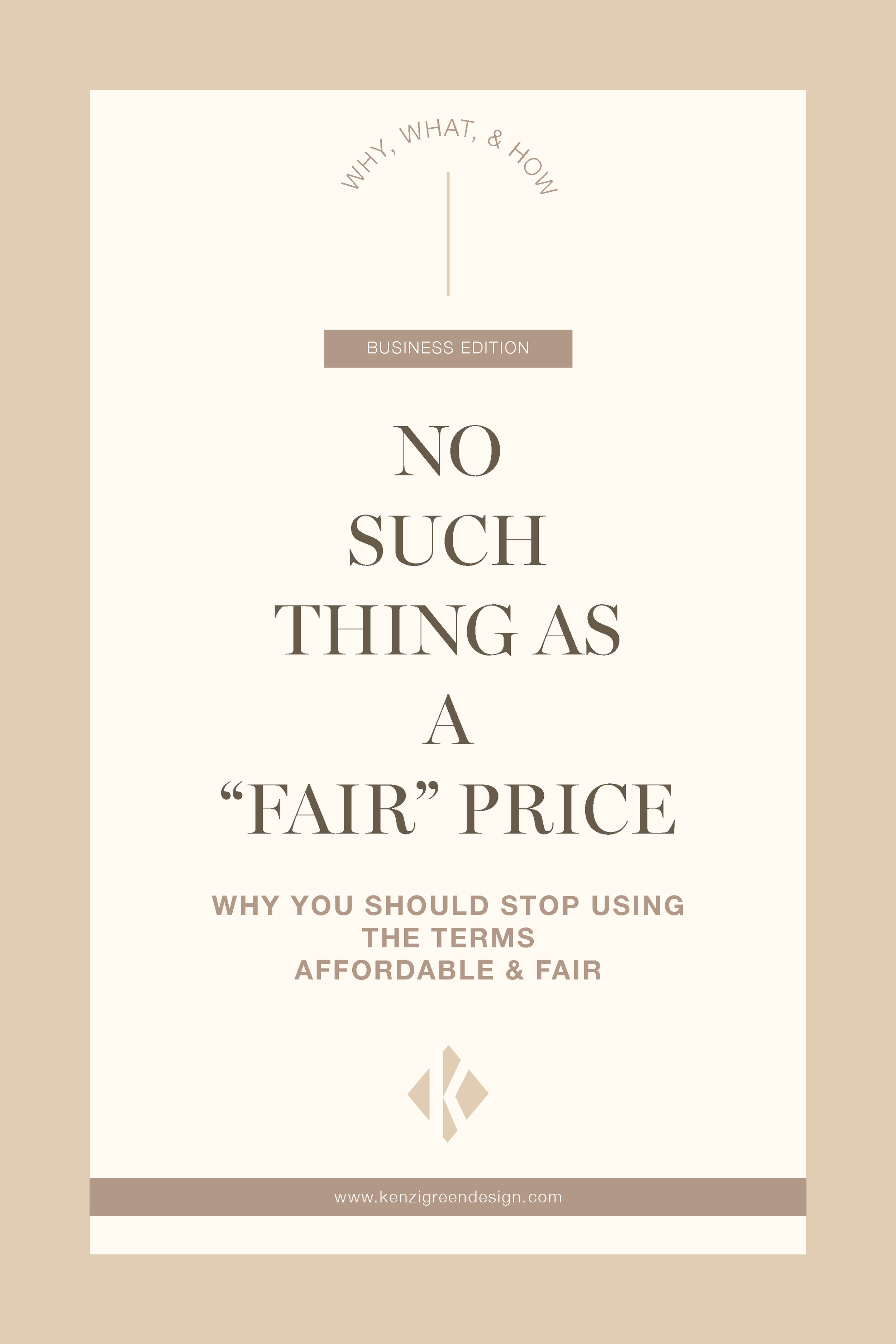 No such Thing as a Fair Price