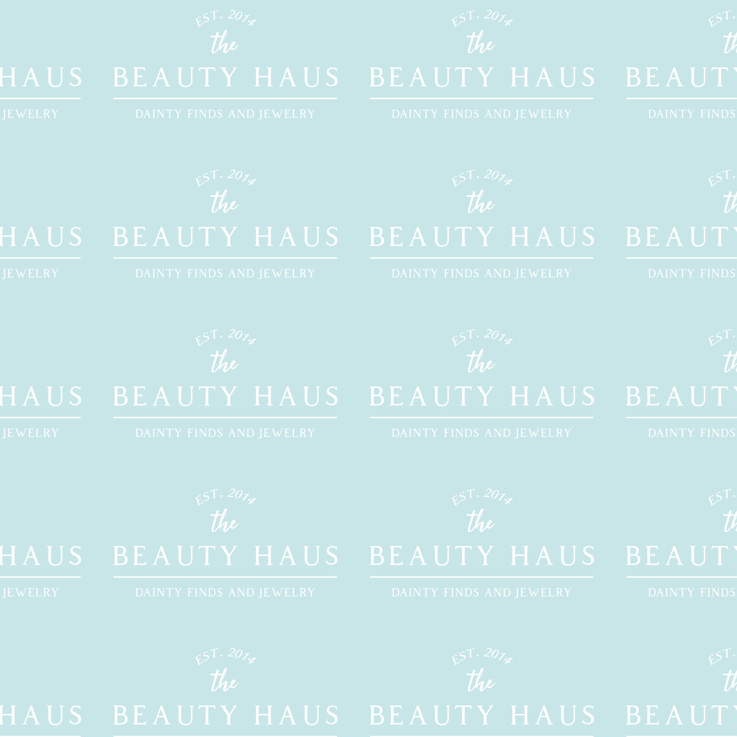 The BEAUTY HAUS Pattern Design by Kenzi Green Design #patterndesign #brandpattern