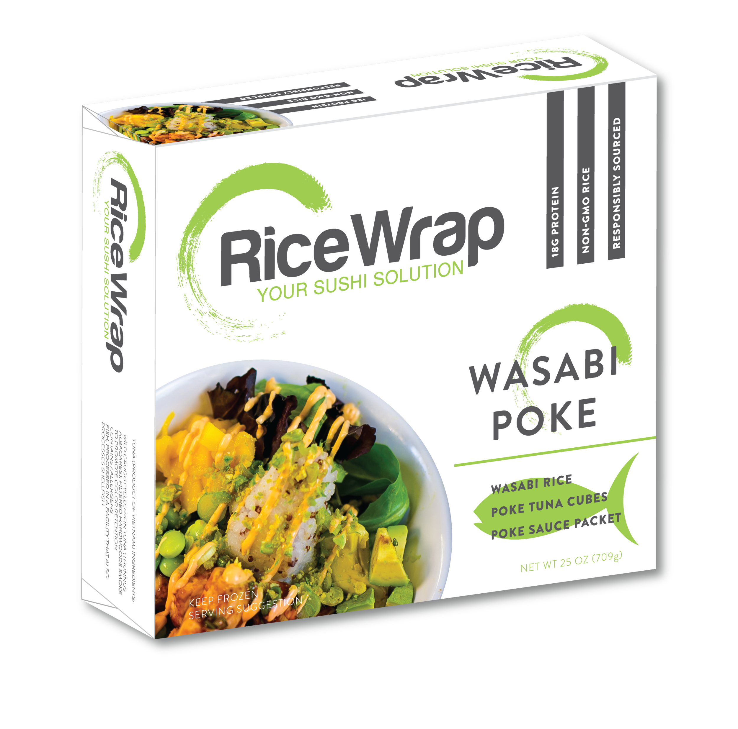 Rice Wrap Sushi Package Design by Kenzi Green Design