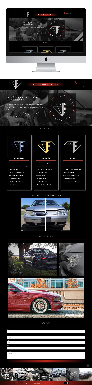 Elite Auto Detailing >> Elite Auto Detailing Branding Web Design Kenzi Green Design
