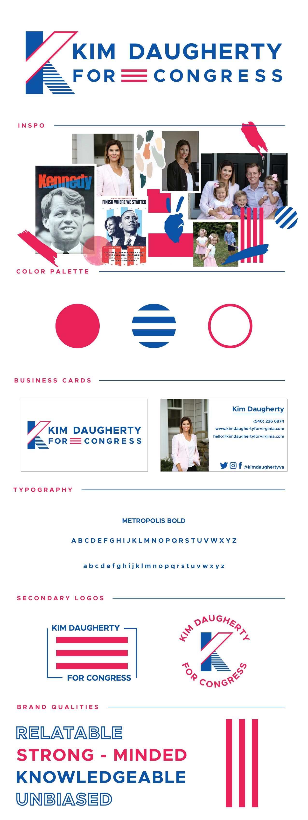 Kim Daugherty For Congress Brand Guide #branding #logodesign #politicalbrand #politicallogo