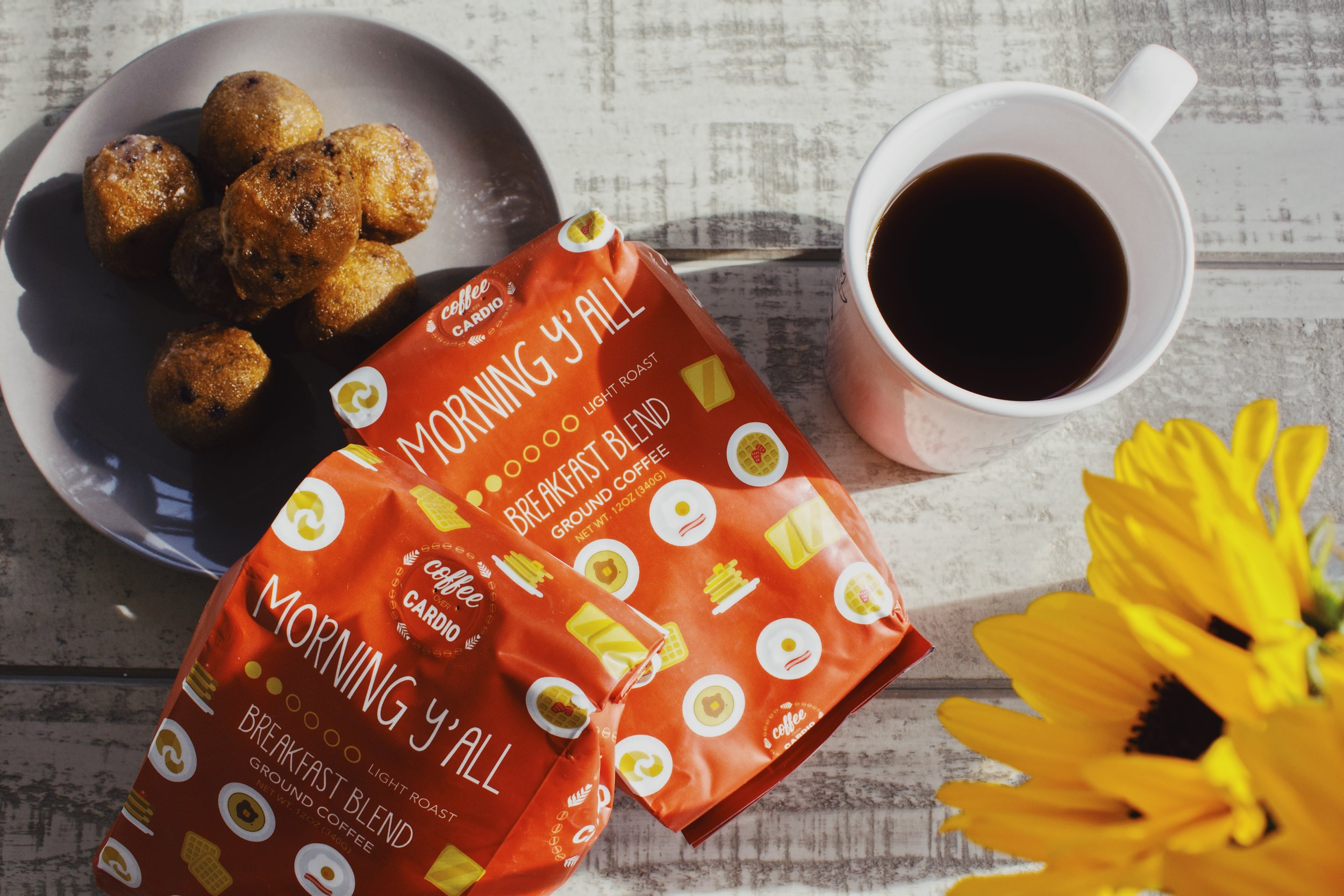 Coffee Over Cardio Product Photography by Kenzi Green Design