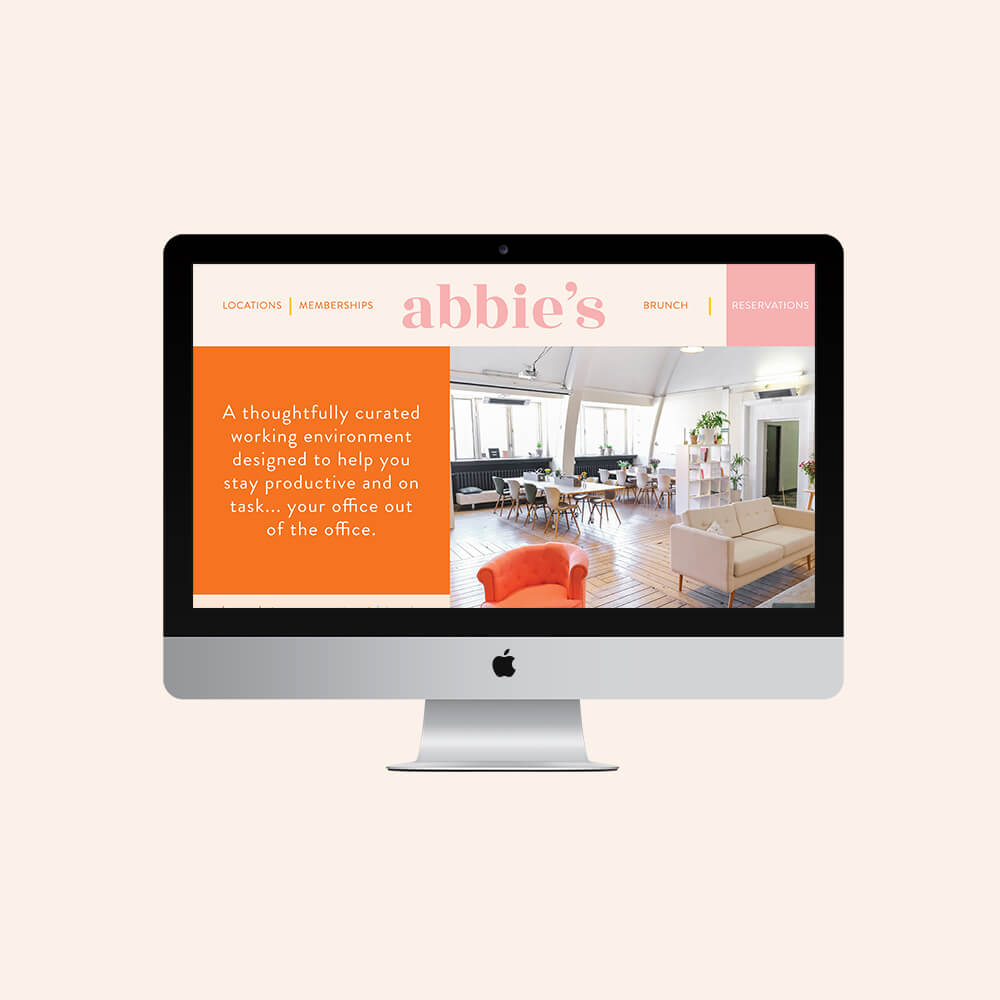 Abbie's website design