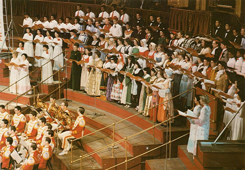 Royal Albert Hall, 1978 – Reinhold is the far right sousaphone player