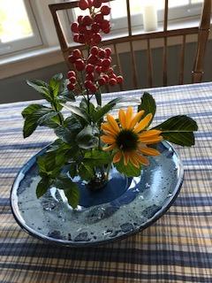 Lynne from Arlington shares her Ikebana arrangement -