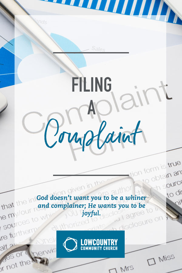 Filing a Complaint | LowCountry Community Church | Bluffton, S.C.