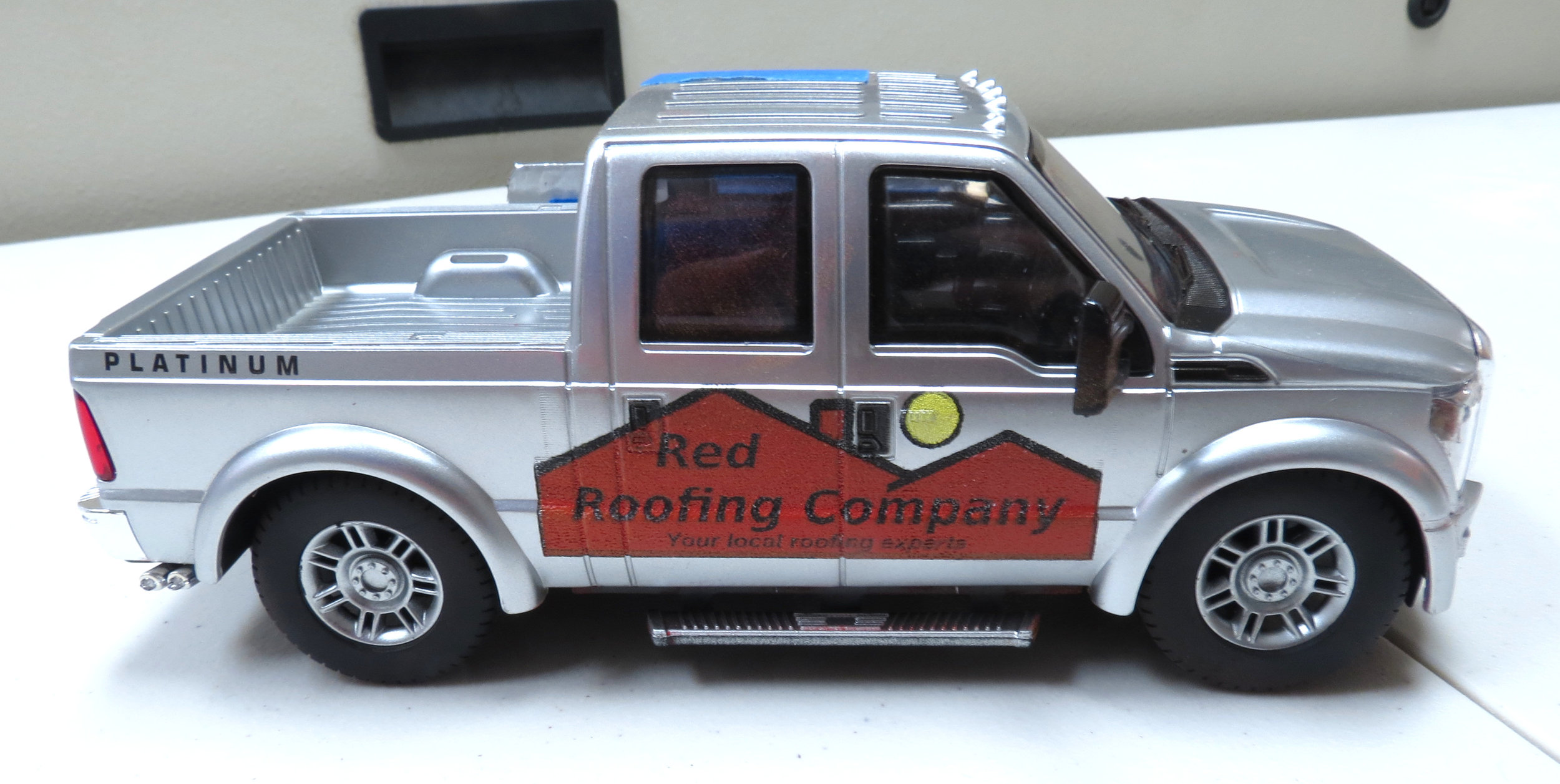 Red Roofing Company Truck.JPG