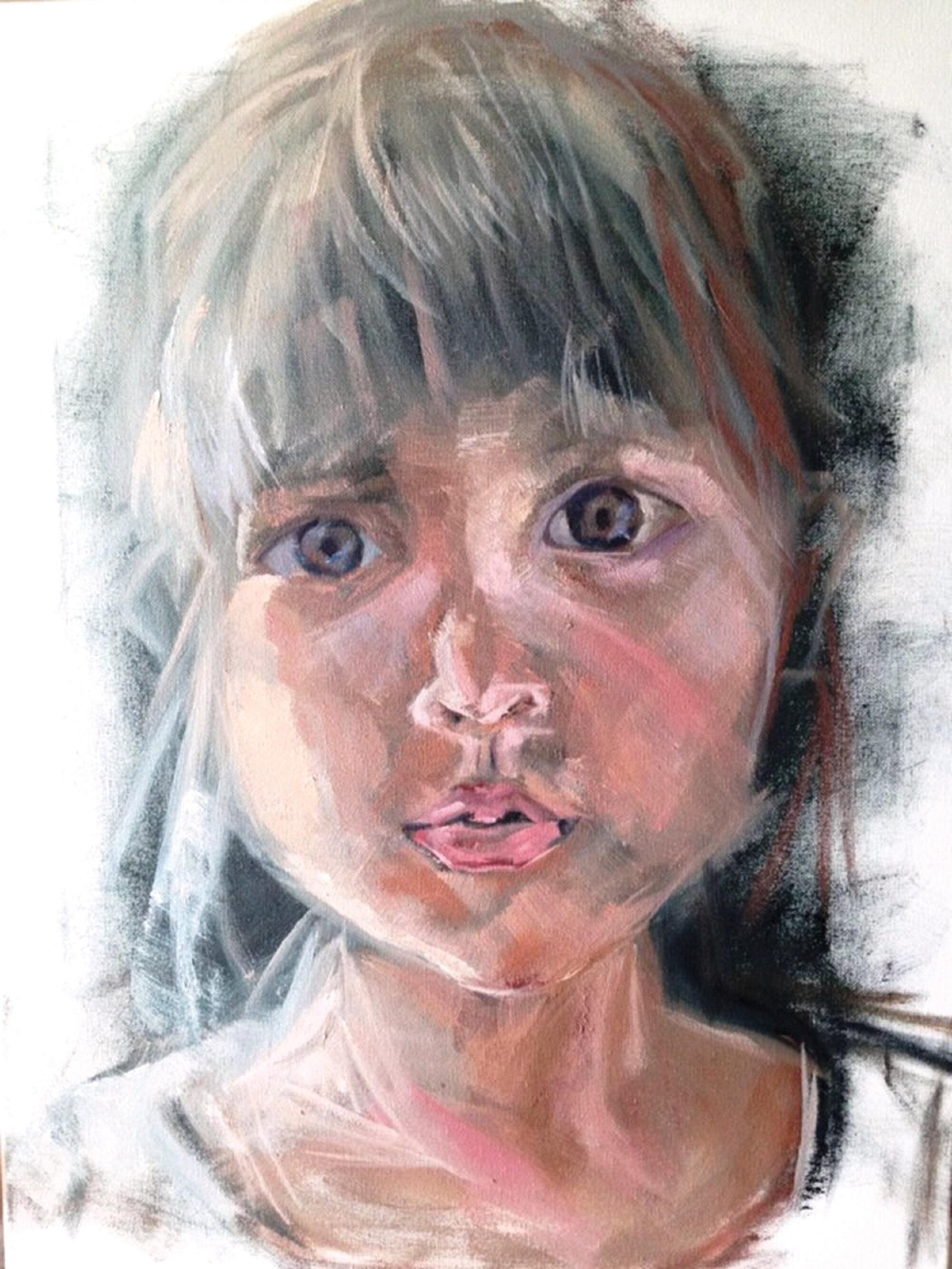 """PORTRAIT #1, 28"""" x 18"""", oil/canvas. 2016"""