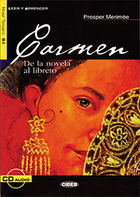 Carmen    This novella of love and death tells a story of a tragic romance between Carmen, a gypsy, and Don José, a brigadier, who converts into a smuggler, a thief, and an assassin for her. Her fiery personality inspired a celebrated opera with music by Georges Bizet.