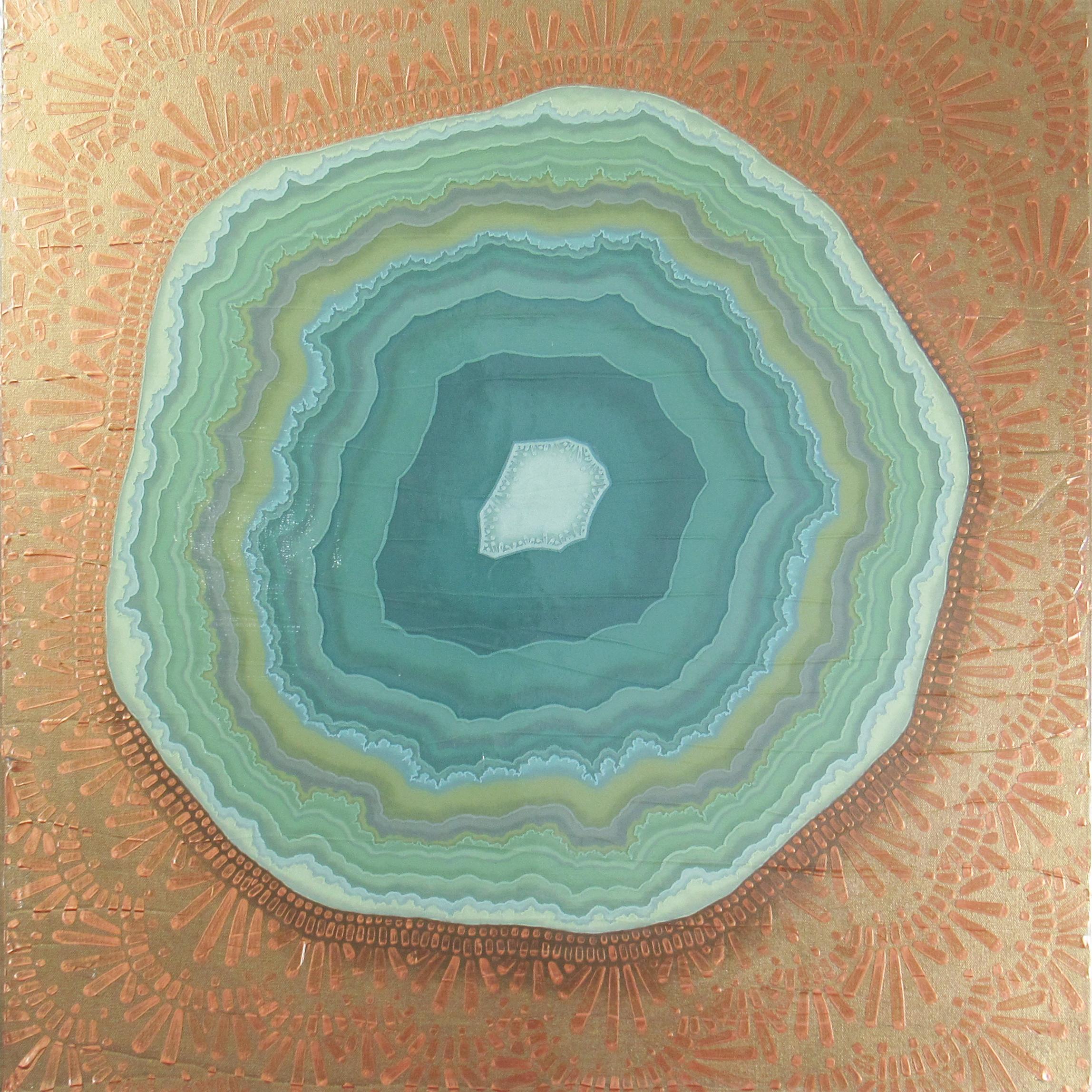 Geode III , 2017, 30x30, acrylic on canvas. sold.