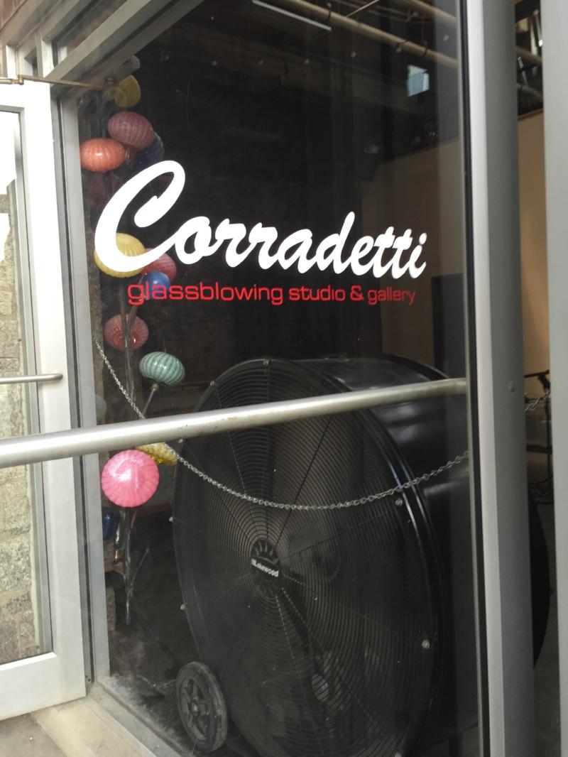 Cut Vinyl for Corradetti Glass