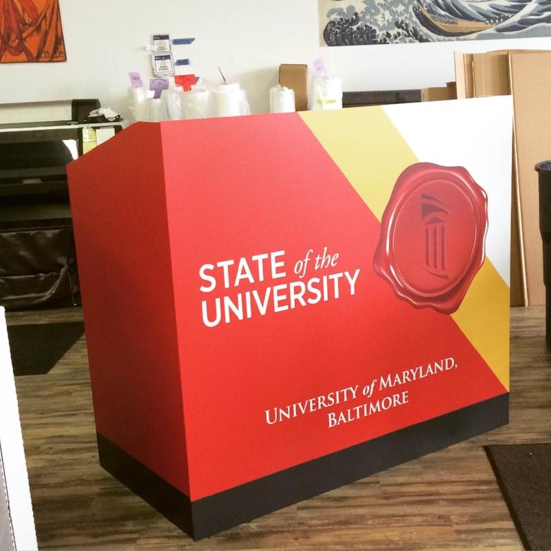 Custom podium for University of Maryland
