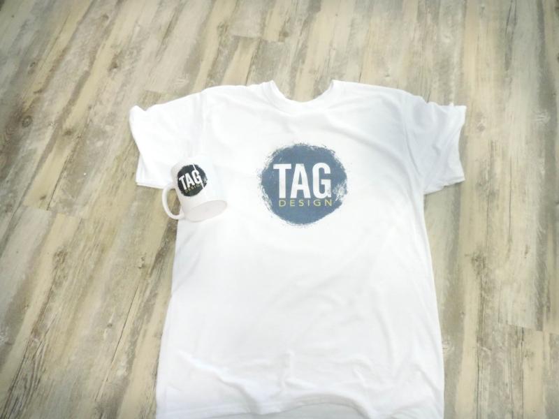 Custom t-shirts and mugs
