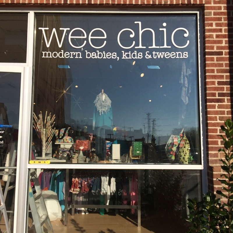 Cut vinyl for Wee Chic Boutique