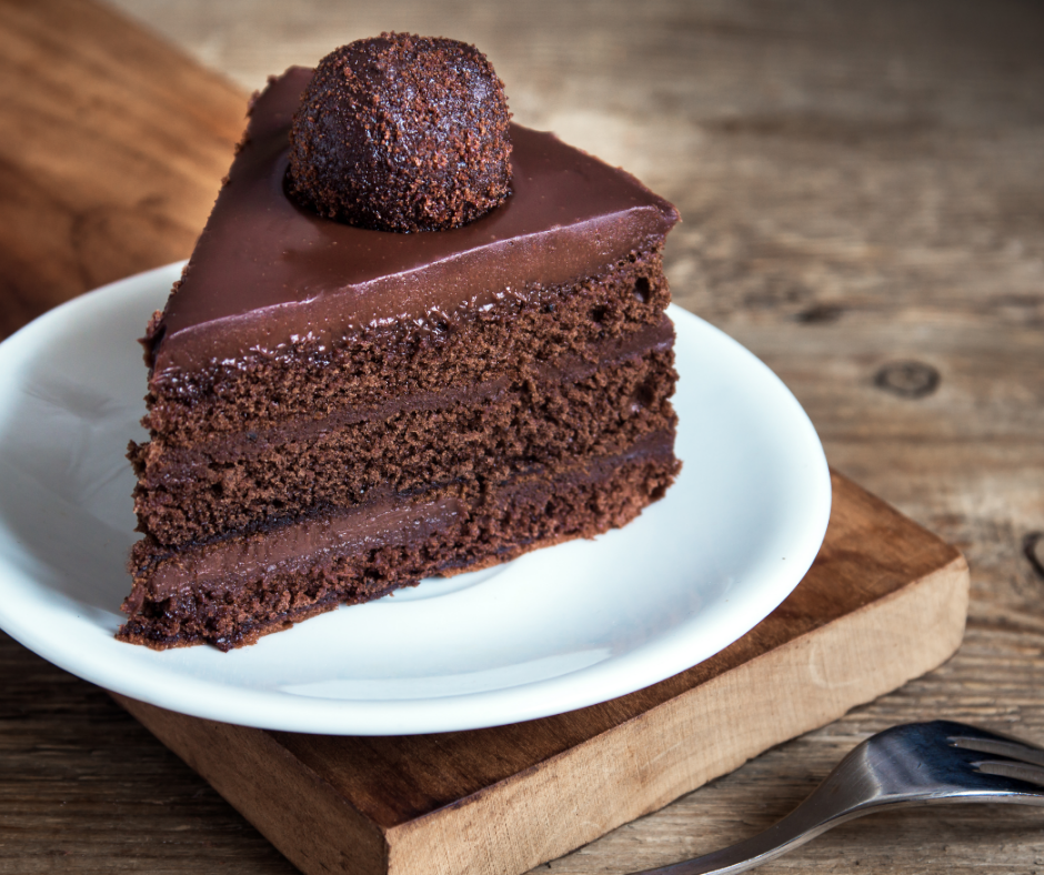 Get the Ganache recipe here Think old fashioned cake