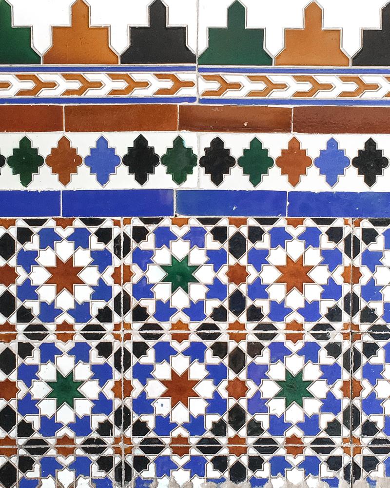 Arabic mosaic tiles, Granada, Spain