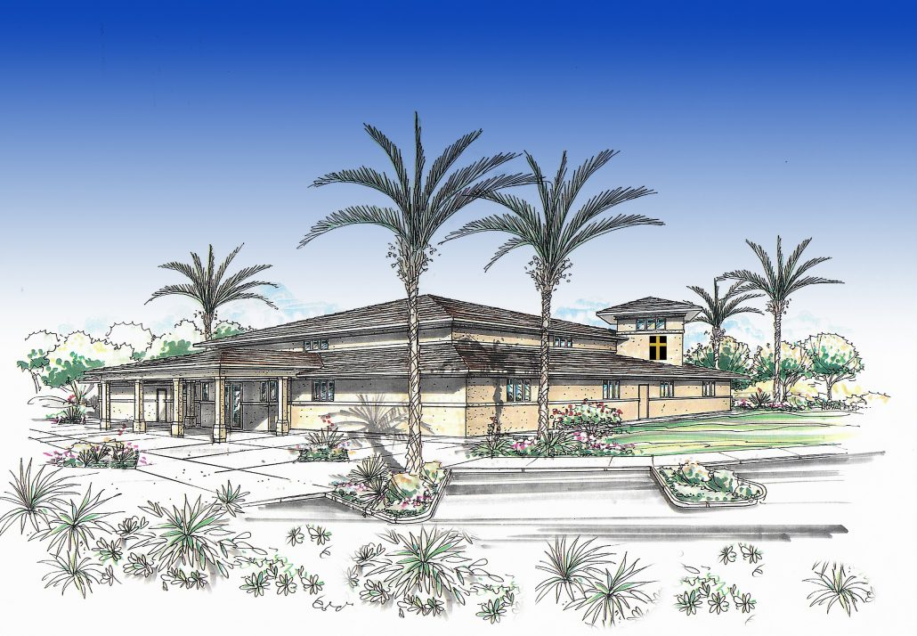 The planning stage... - An architectural rendering of the proposed church structure.