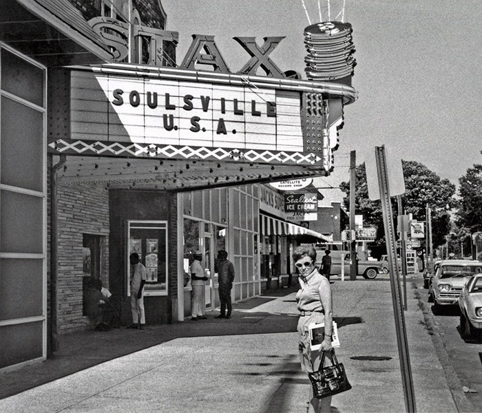 Estelle Axton outside Stax Records