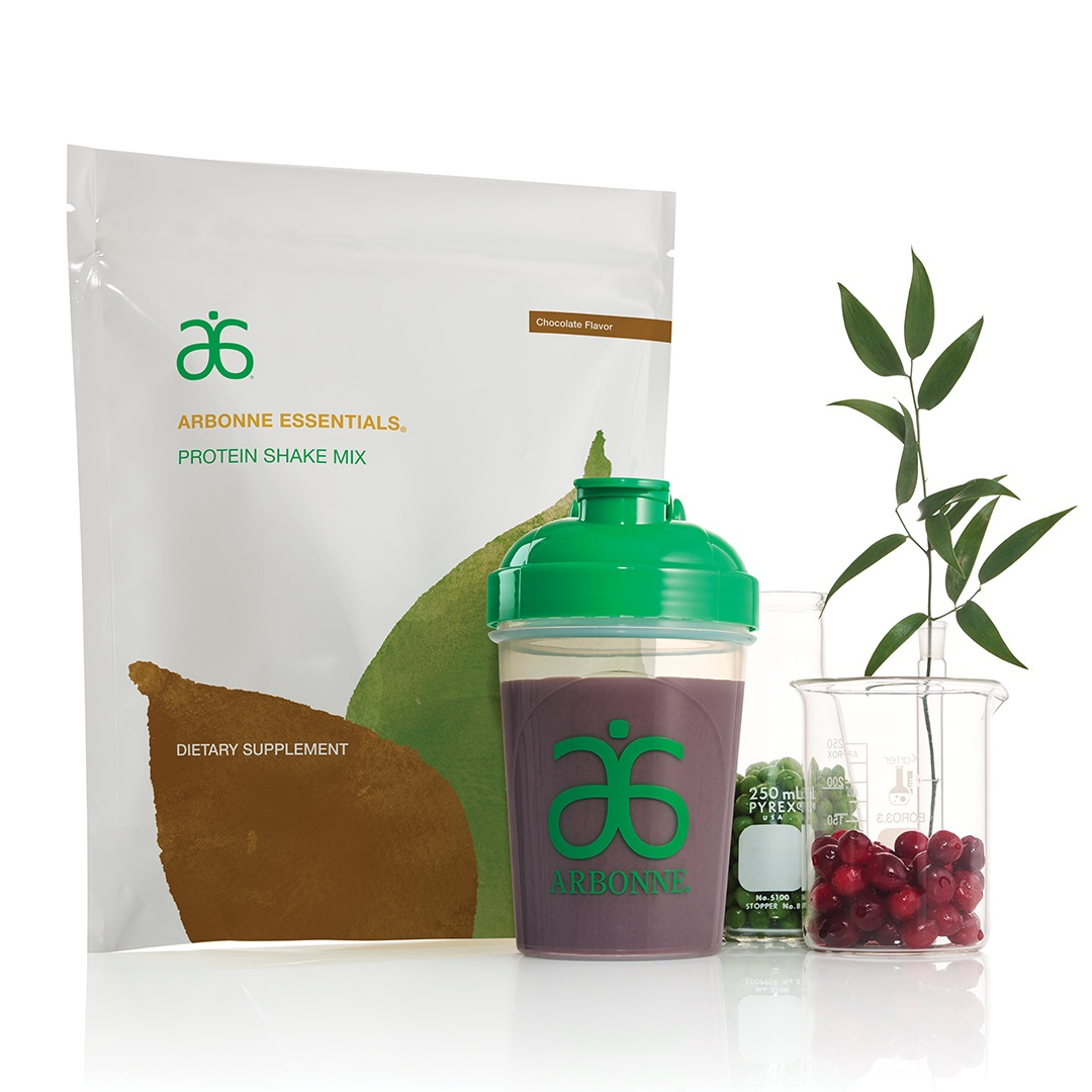 PLANT-BASED PROTEIN POWDER – CHOCOLATE   Vegan, Non-GMO, and low-sugar, this plant-based protein powder delivers 20 g of vegan protein with 24 vitamins and minerals and all essential amino acids to help support muscles and daily health. This delicious protein is derived from peas, rice and cranberries for optimum digestibility and satiety.