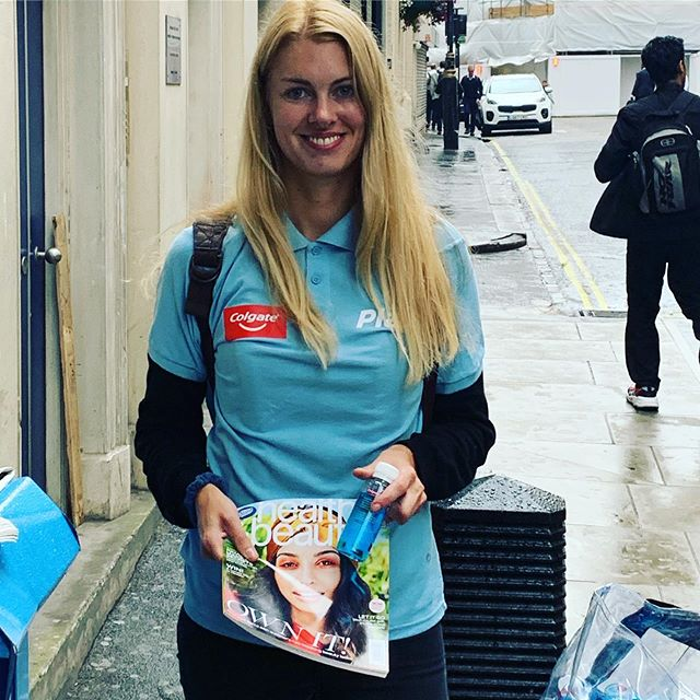 We're out today in London with @bootsuk Health and Beauty magazine and a free sample of @colgateuk Plax.