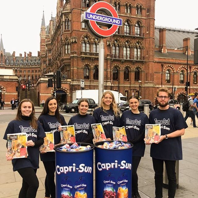 Look out for your FREE @TimeOutLondon magazine with FREE @CapriSunGB drink across London this morning. Come and say hello!