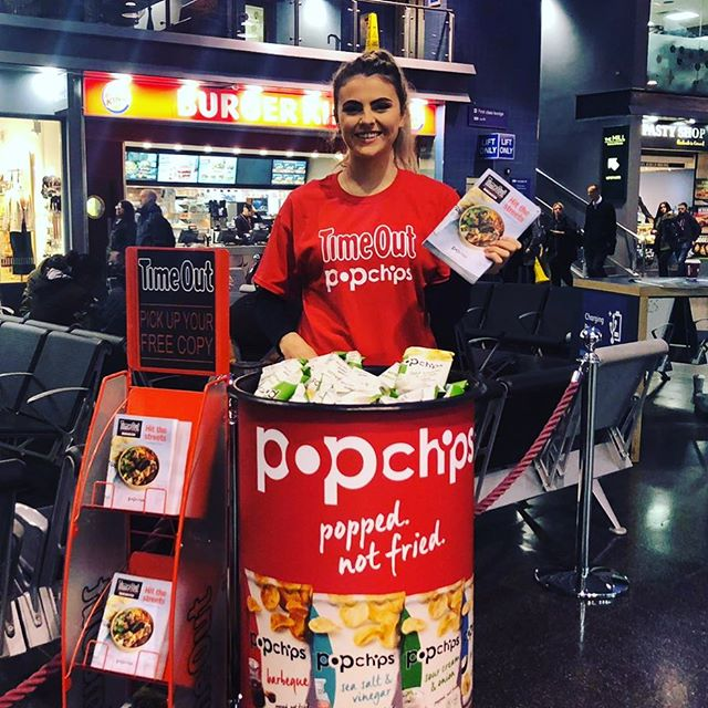 We're giving away @popchipsuk and @timeoutlondon guides in #manchester today. Come and say hello!