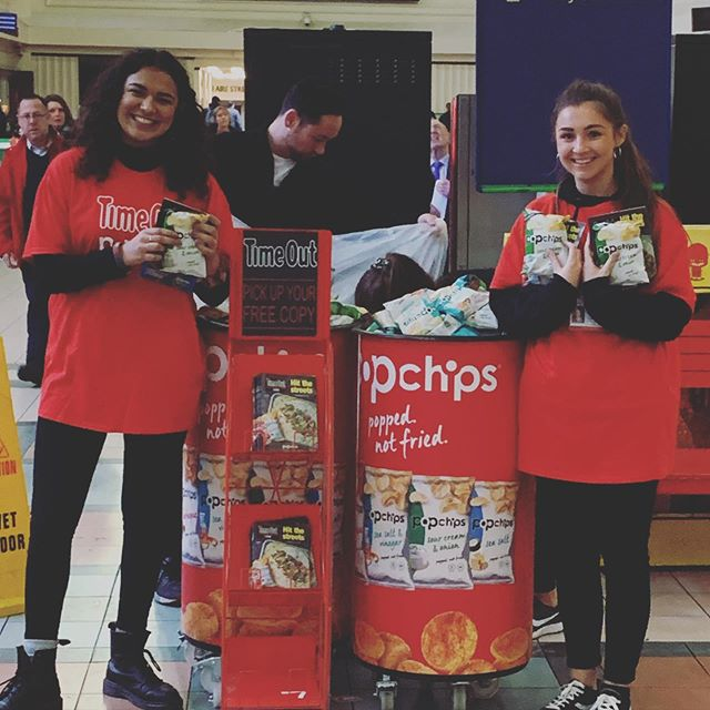Today we're in #Leeds with @popchipsuk and @timeoutlondon . We'll be here all day so pick up your #Popchips and say hi!