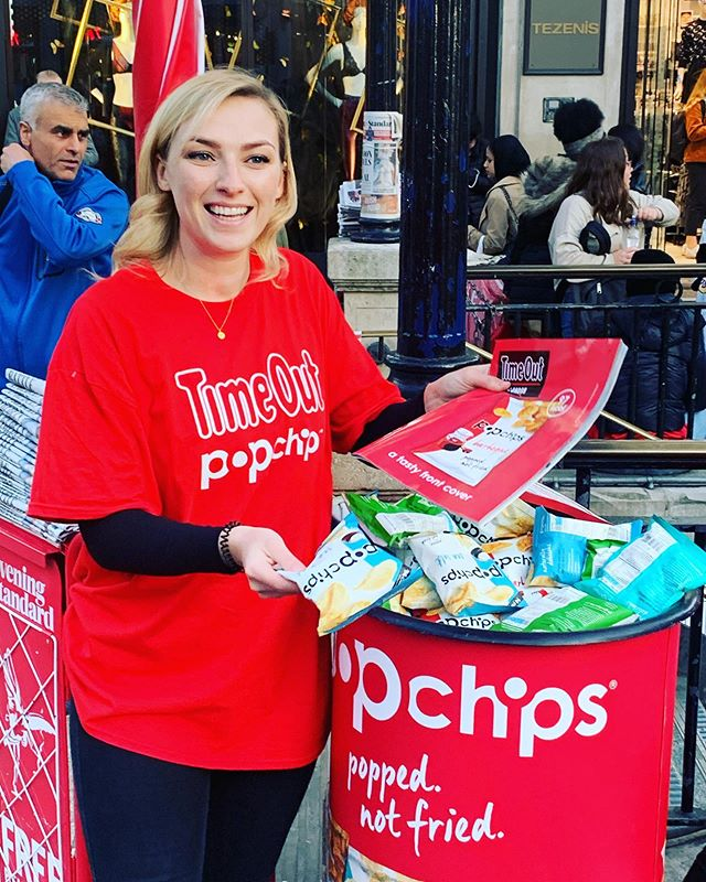 Pick up your FREE @popchips and @timeoutlondon tonight at Oxford Circus and Tottenham Court Road. We're here until 7pm! They're going fast!!!