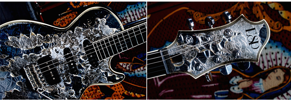 Sugizo-2007 ESP Eclipse S-VIII Brilliant Mixed Media | © Lisa S. Johnson