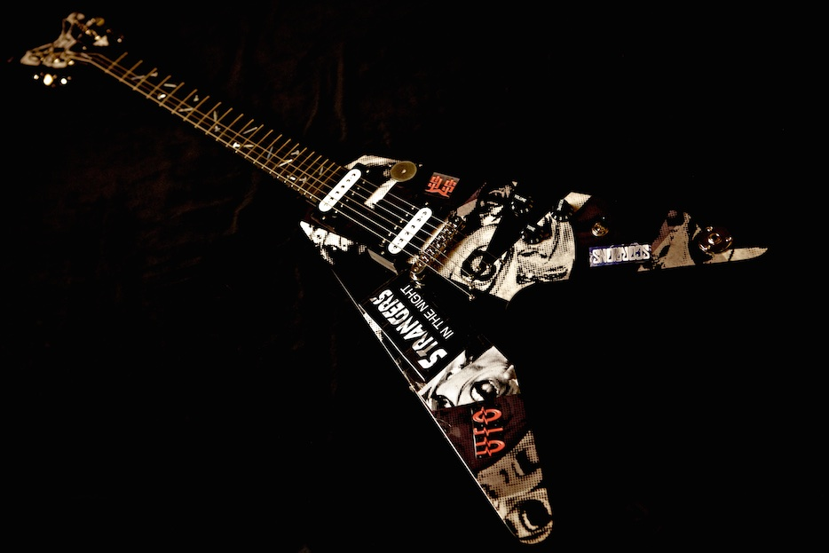 Michael Schenker's 2011 Dean MS Signature Flying V | © Lisa S. Johnson
