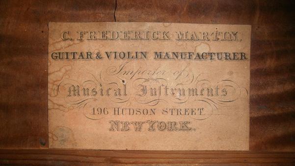 Guitar Label, C. 1834