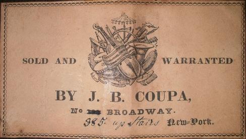 J.B. Coupa label, c. 1841-1843