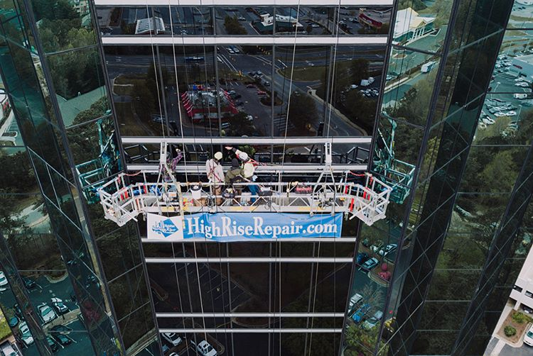 Our Services - HighRise Repair specializes in a wide scope of services including commercial waterproofing, exterior maintenance, restoration and leak repairs.