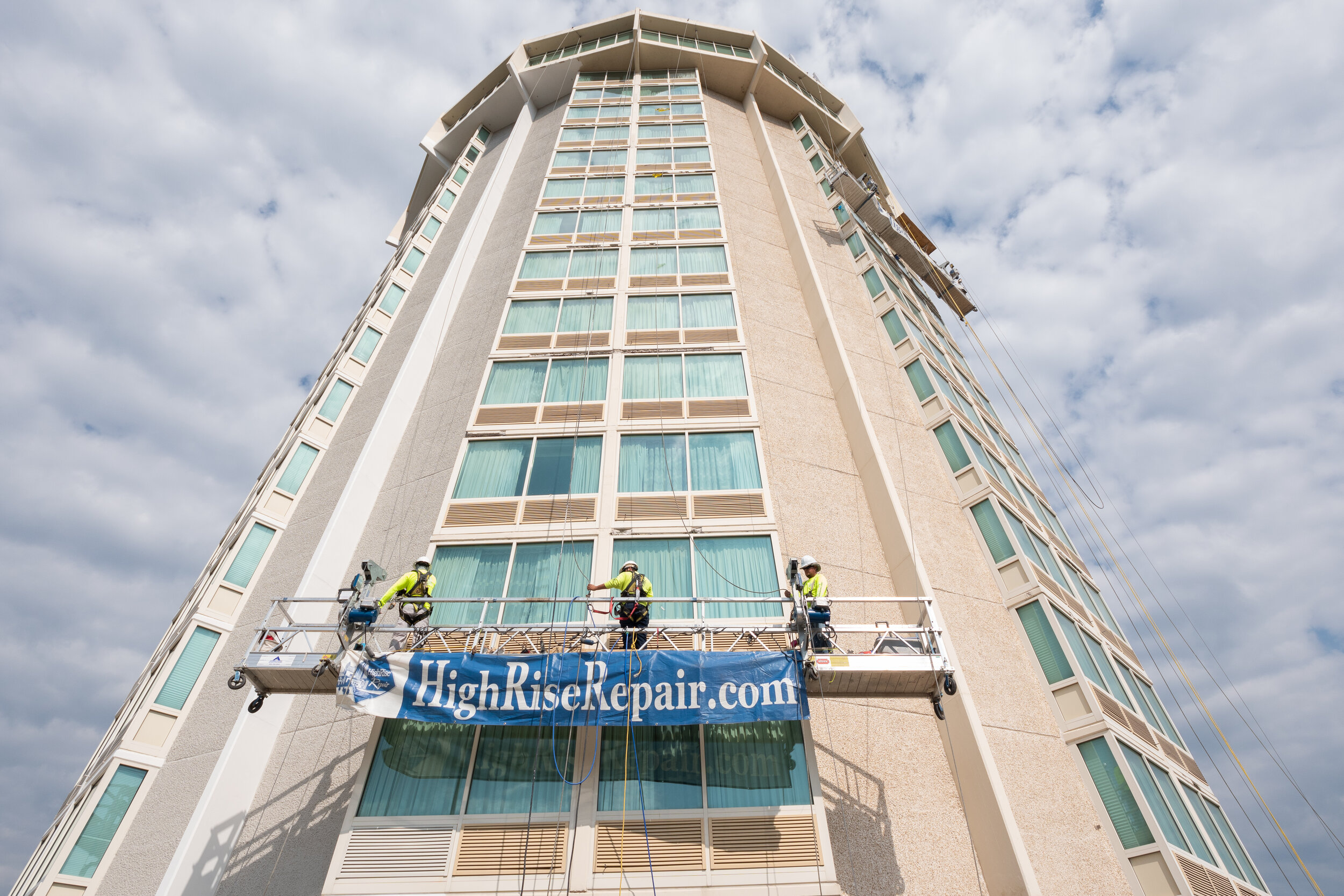 Commercial Waterproofing and Caulking - Waterproofing your commercial building is essential for maintaining and protecting the integrity of your structure. HighRise Repair's commercial waterproofing services include the expert installation of only the highest quality waterproofing materials to prevent the water infiltration of your building.