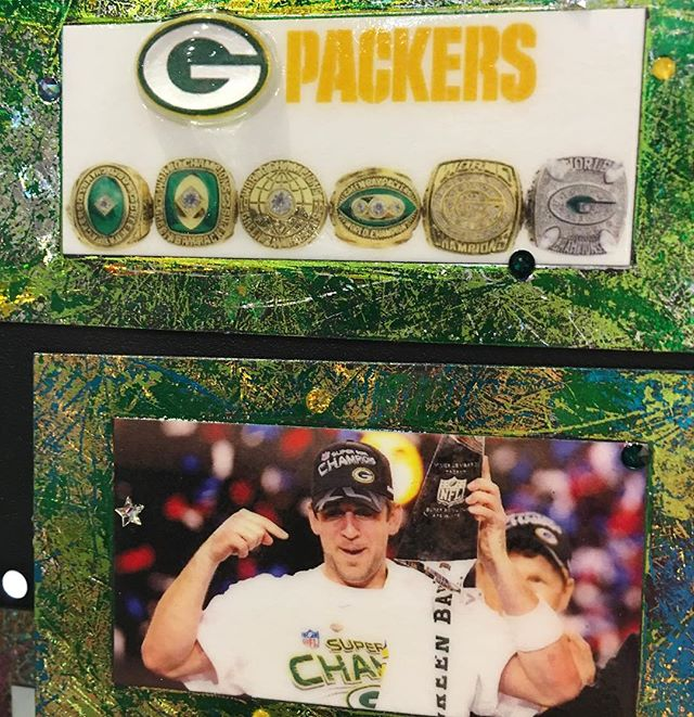 Packer Championship Rings & Aaron Rodgers and The Lombardi trophy #MagneticArt #MagnetDude #MagneticOriginals #CalhounSquareMN #CSQmn #packers