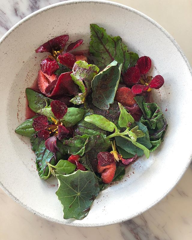 berries and beets and flowers you can eat!  By @bon__javier TONITE