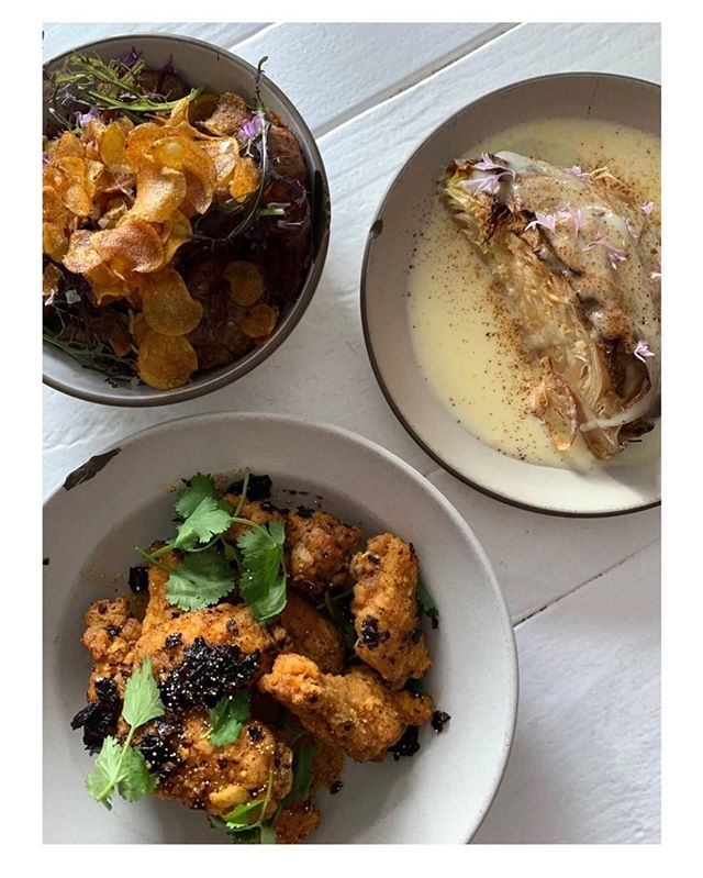 wings in salsa seca  butter braised cabbage  vegan cabbage drowned in avocado seed tahini  tuesday & wednesday dinner only  walk ins welcome , reservations encouraged via @resy