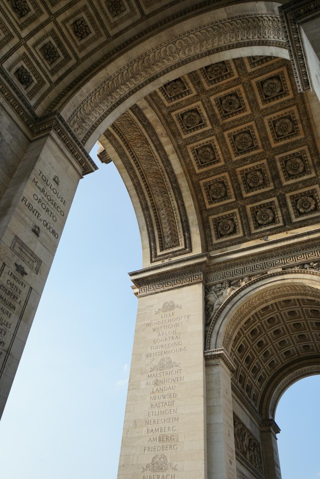 Underneath L'arc de Triomphe