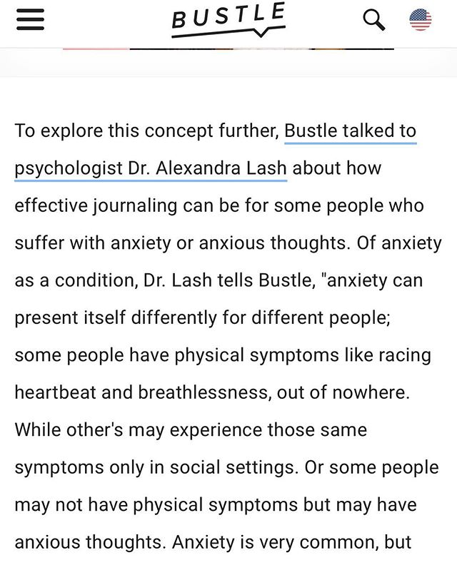 Do you journal? I weigh in on the topic in a new Bustle article. Link in bio! #anxiety