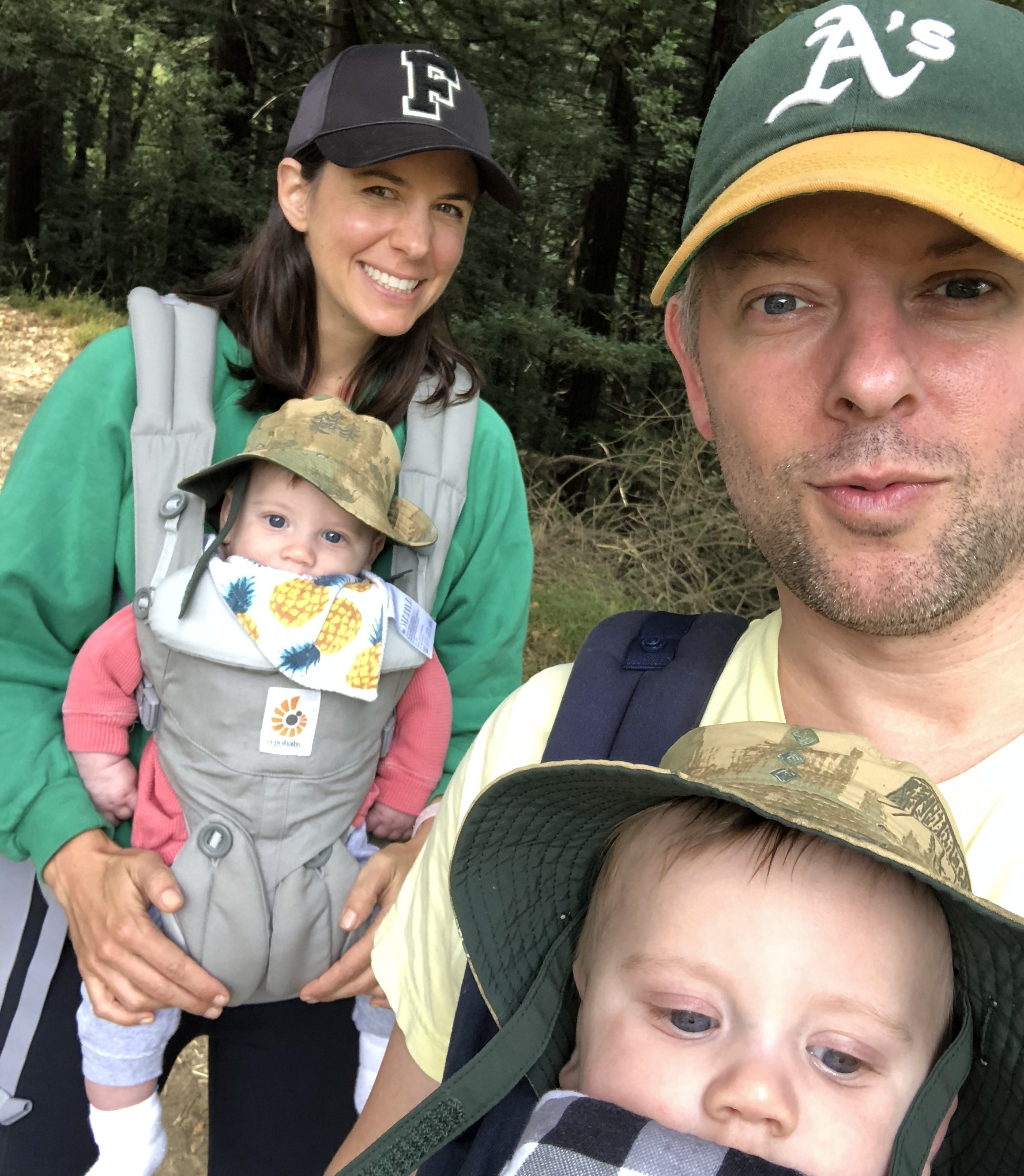 Braving a hike—another twin story for another time.
